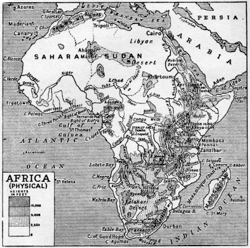 africa, map